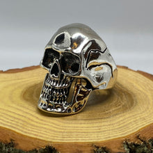 Load image into Gallery viewer, Evil Scary Classic Skull Goth Punk Biker Silver Tone Ring