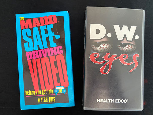 Vintage Drivers Education VHS Tapes