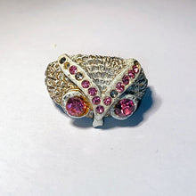 Load image into Gallery viewer, Vintage Costume White Owl Ring