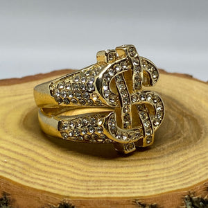 Cash Money Hip Hop Bling Gold Tone Ring