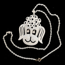 Load image into Gallery viewer, 1970's vintage poodle costume bling necklace
