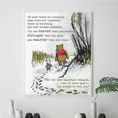 It`s A Wonderful World Winnie The Pooh A4 Print Poster Home Decor