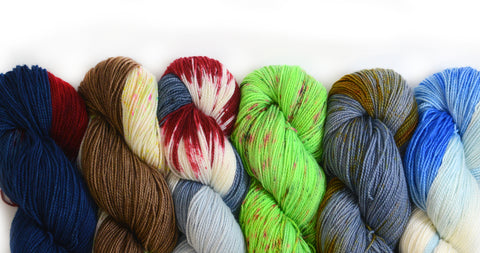 the woolly dragon hand dyed yarn