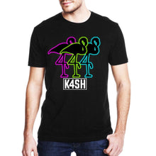 Load image into Gallery viewer, Neon Flamingos [K4SH] - Black / S - T-Shirts