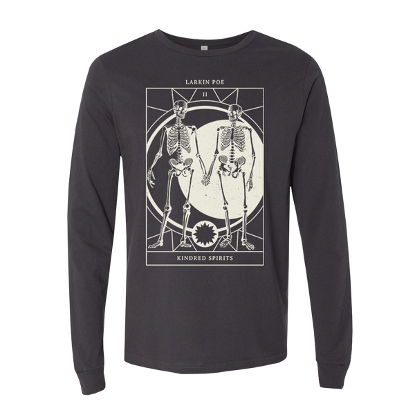 KINDRED SPIRITS TAROT DARK GREY LONG SLEEVE TEE