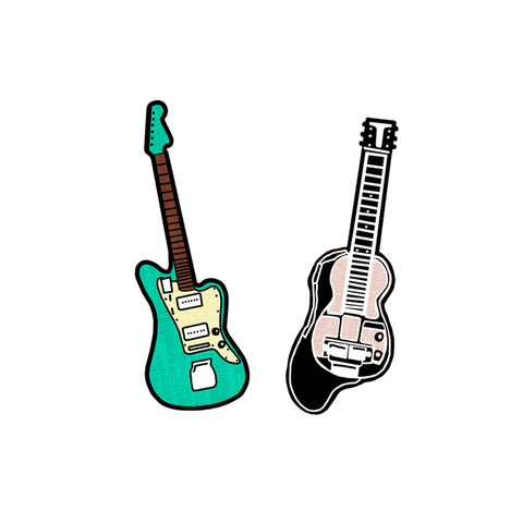 GUITAR AND LAP STEEL ENAMEL PIN SET