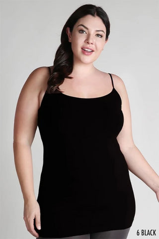 Cute and Curvy Basic Cami in Black