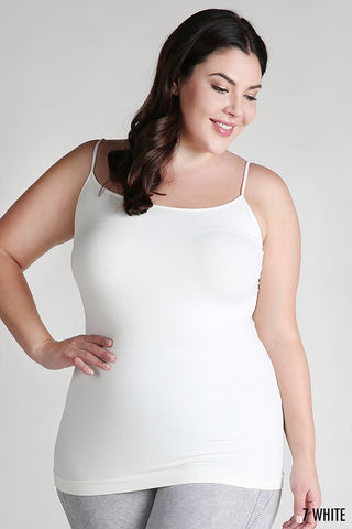 Cute and Curvy Basic Cami in White