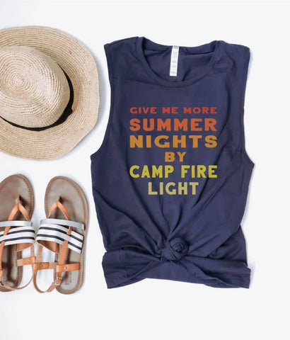 Summer Nights and Campfire Lights Muscle Tank