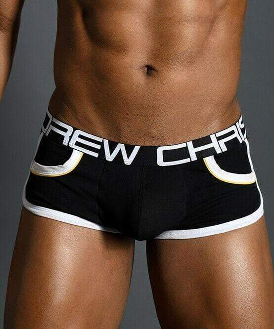 Andrew Christian XL Andrew Christian Boxer Show-It Retro Pop Pocket Boxers Black 91154 52