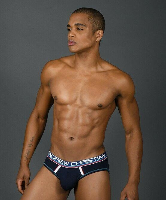 Andrew Christian Andrew Christian Brief CoolFlex Active W/Sh Briefs Sporty Slip Navy 91118 44