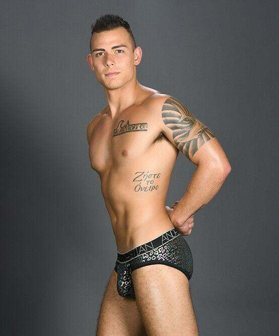 Andrew Christian XS Andrew Christian Brief Disco Animal Briefs Shining Slip Black 91015 38