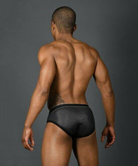 Andrew Christian Andrew Christian Brief Massive Glam Briefs Silver Slips Homme Black 91288 8
