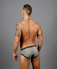 Andrew Christian Andrew Christian Brief Sheer Stripe Briefs Sporty Slip Black & Gray  91312 57