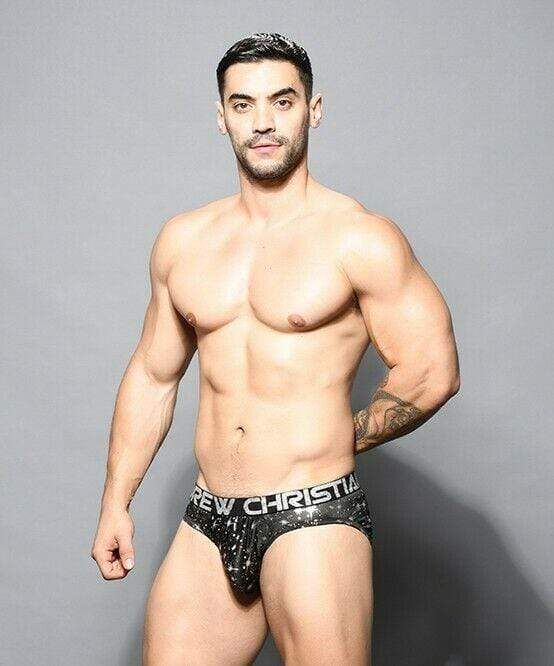 Andrew Christian Andrew Christian Brief Starlight Briefs w/ Almost Naked Slip Black 91665 61