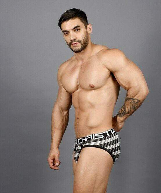 Andrew Christian Andrew Christian Brief Ultra Stripe Briefs Chic Slip Black / White 91364 56