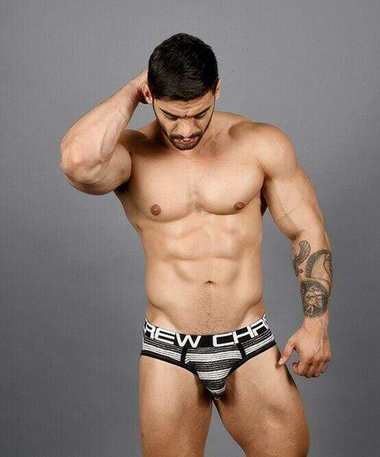 Andrew Christian Brief Ultra Stripe Briefs Chic Slip Black / White 91364 56