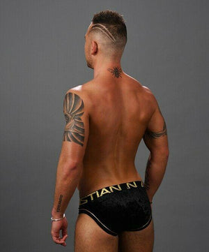 Andrew Christian Andrew Christian Briefs Midnight Casual Brief Velvet Fabric Black 91284 10