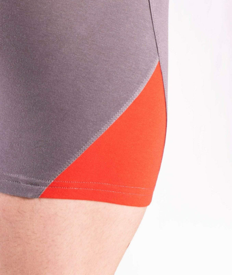 Doreanse Boxer Brief MicroModal Casual Cotton Boxer Grey-Red Combo 1754 59