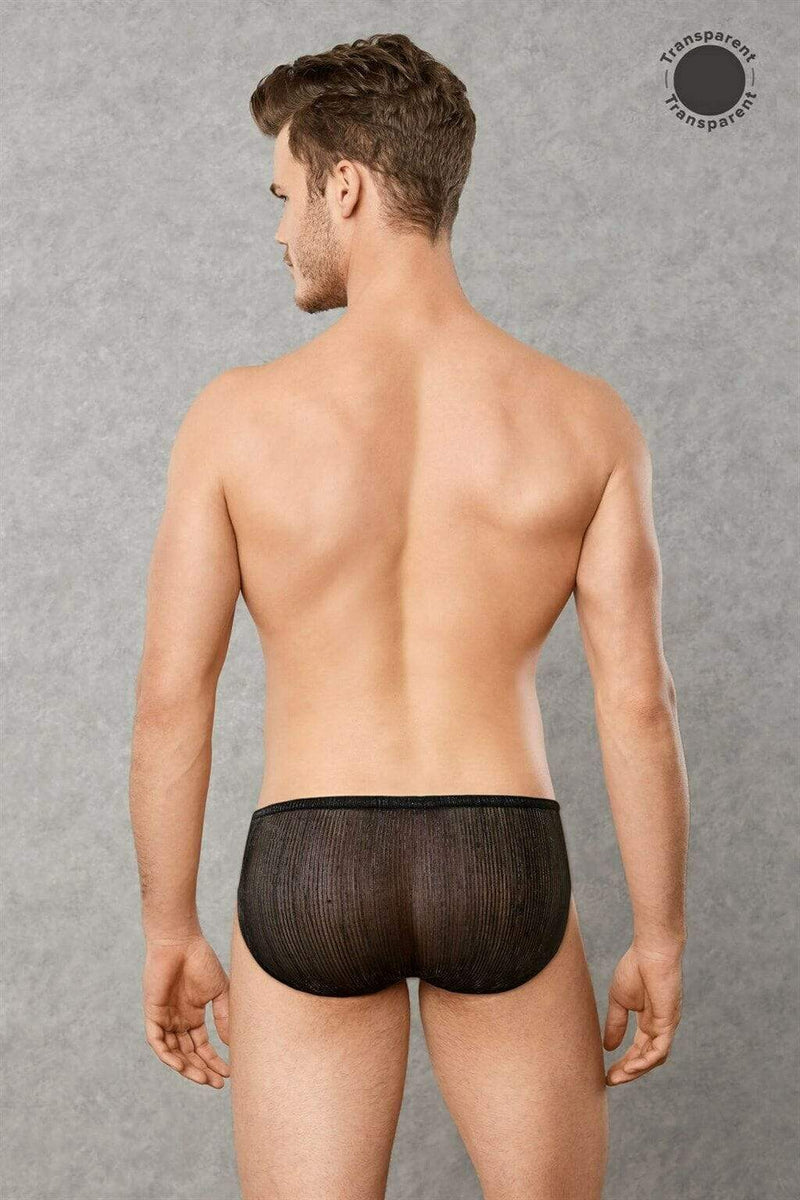 Doreanse Doreanse Sheer Brief Mens Underwear  Night Tease Black Men Undies 1301 38