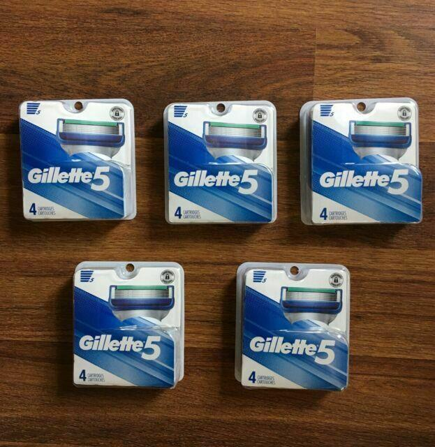 Gillette Razor Cartridges (Gillette 5 ) ONE PACK OF  / 4 Count Refill Cartridges