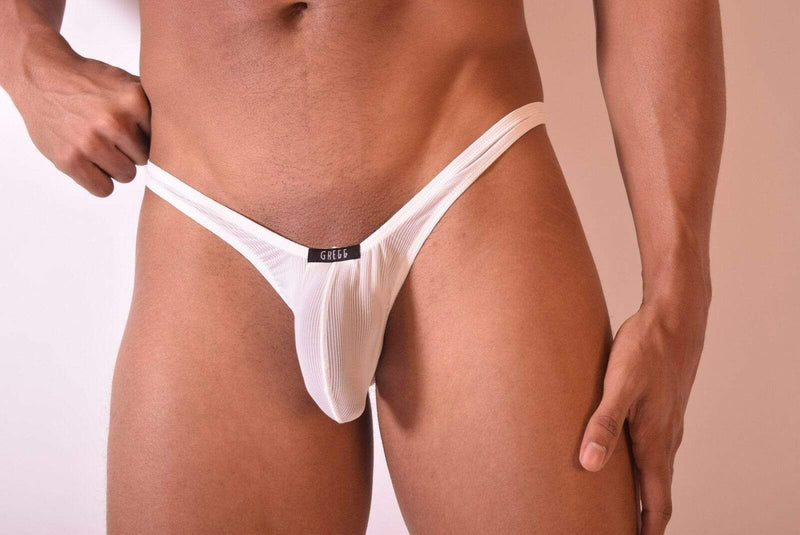 Gregg Homme Thongs Gentleman Retro Mens Thong C-RING White Herren-Tangas 04 5