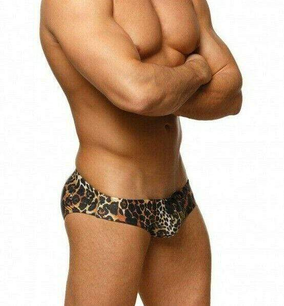 Marcuse Marcuse Swimwear Brief Jungle Slip Tight Fit Swimsuit Briefs Leopard 9517 5