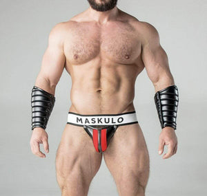 MASKULO MASKULO Jockstrap Armored Fetish Jock Detachable Codpiece Red JS10-10 26