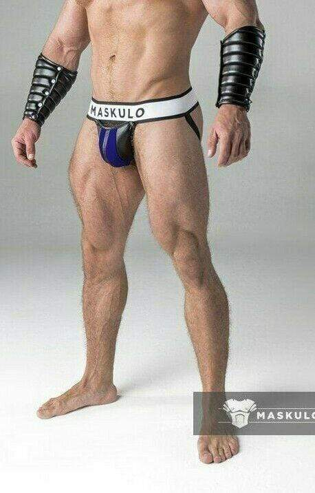 MASKULO MASKULO Jockstrap Armored Fetish JockS Detachable Codpiece ROYAL JS10-62 27