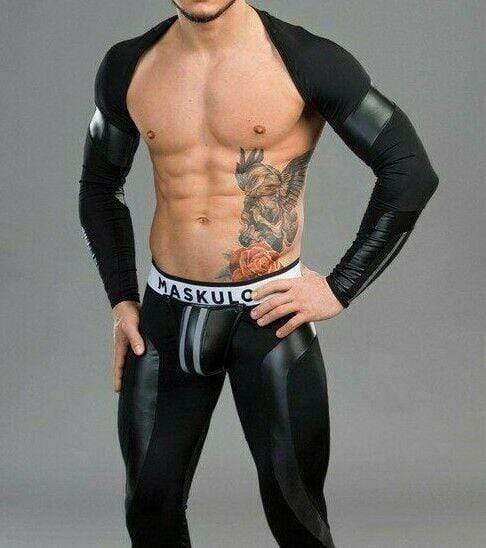 MASKULO MASKULO Leggings Youngero Back Zipped Mens Legging Fetish Codpiece LG32-90 14