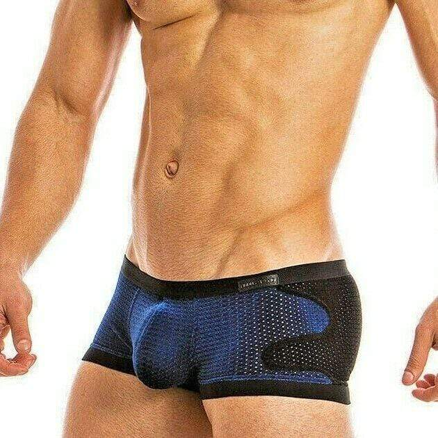Modus Vivendi Modus Vivendi Boxer Brief Luxury Velvet Perforated Blue 17821 8