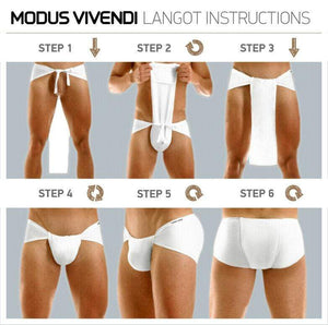 Modus Vivendi Modus Vivendi Brief LoinCloth MASAI LANGOT Greek Briefs RED 10513 10