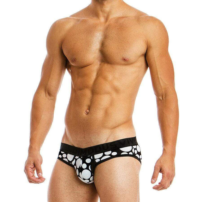 Modus Vivendi Brief Polkadot Herren-Slips Black 08812 31