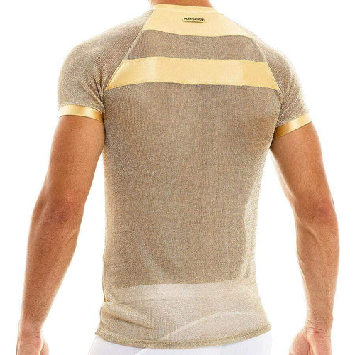 Modus Vivendi Luxury Streetwear T-Shirt Armor Metallic 2020 Gold  01041 62