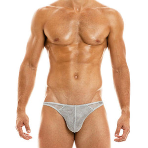 Modus Vivendi Modus Vivendi Underwear Low Cut Brief Armor Metallic Look Silver  01013 58b
