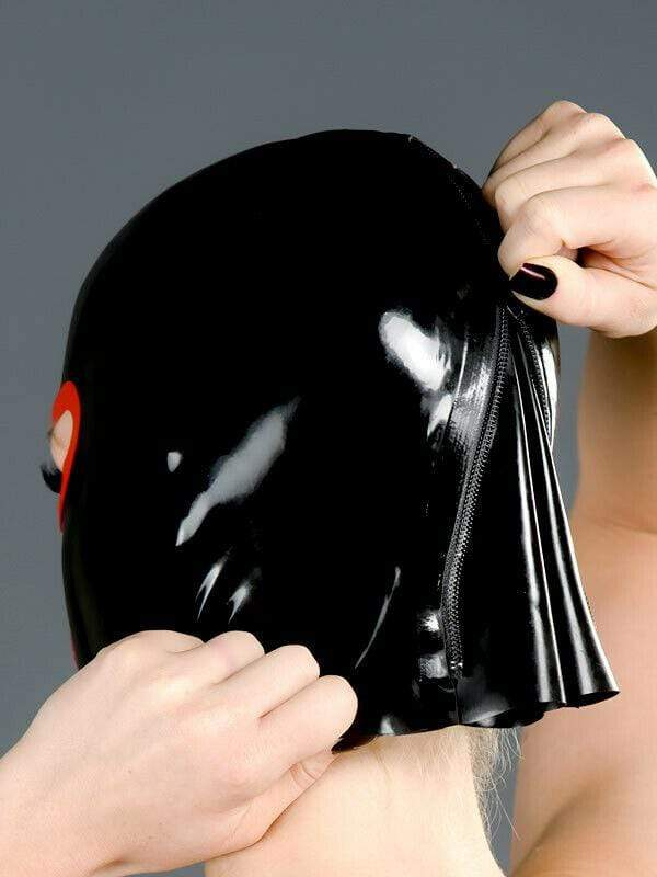 Polymorphe Latex Mask Nose And Mouth Rubber Mask Polymorphe Latex Mask With Back Zip A-03
