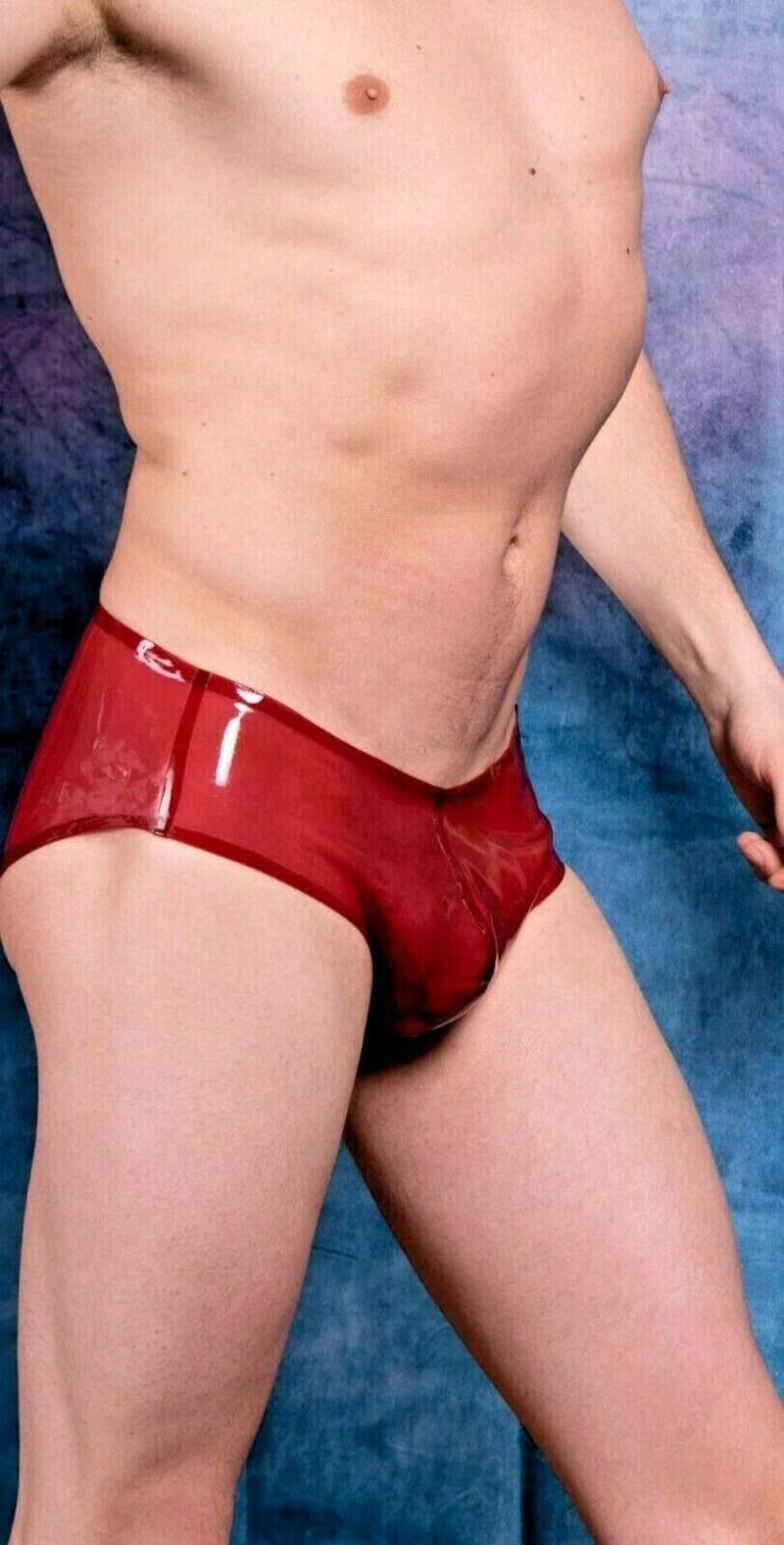 Polymorphe L Polymorphe Mens Rubber Underwear Mens Briefs Top Quality Mens Latex Cherry 15A