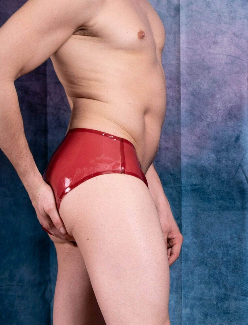Polymorphe Polymorphe Mens Rubber Underwear Mens Briefs Top Quality Mens Latex Cherry 15A