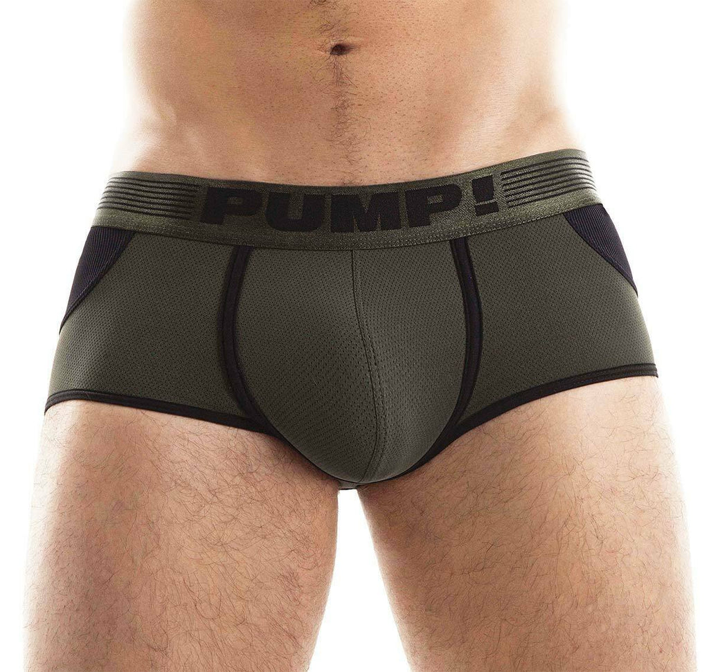 PUMP! PUMP! Jock/Trunk Acces BottomLess Boxer Jockstrap BackLess Military 15033 48