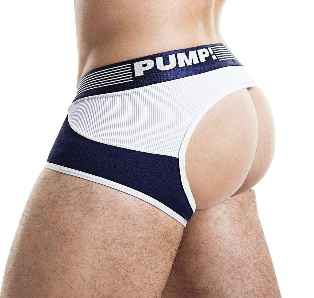 PUMP! PUMP! Jock/Trunk Acces BottomLess Boxer Jockstrap BackLess Navy 15031 47