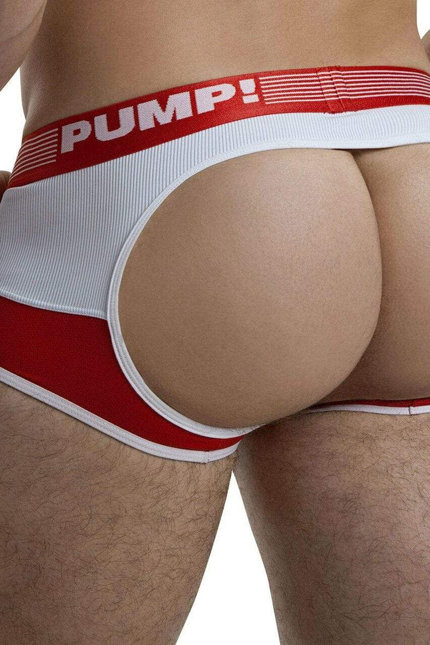 PUMP! PUMP! Jock/Trunk Acces BottomLess Boxer Jockstrap BackLess Red 15030 47