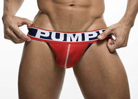 PUMP! S PUMP! JockStrap Fever Red Mesh Cup Jock En Cotton 15014 36