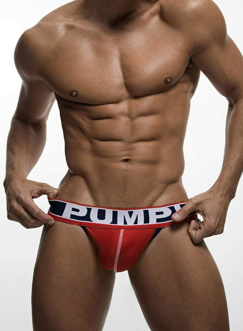 PUMP! PUMP! JockStrap Fever Red Mesh Cup Jock En Cotton 15014 36