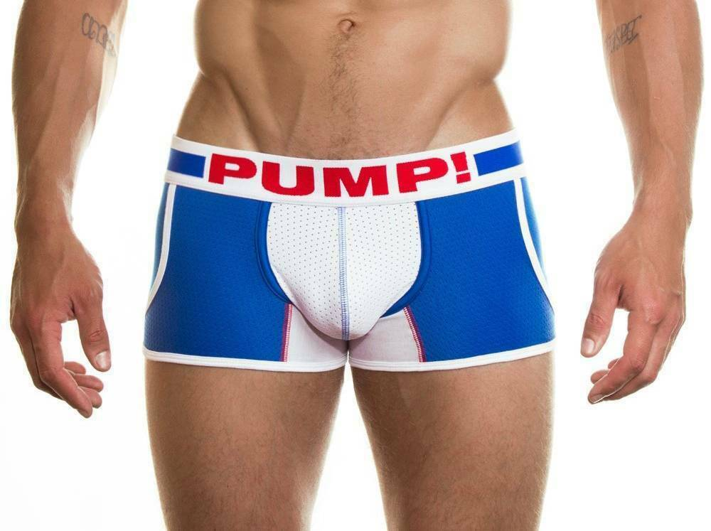 PUMP! S PUMP! Jogger Hero Sport Boxer Micro Mesh White And Blue 11034 44