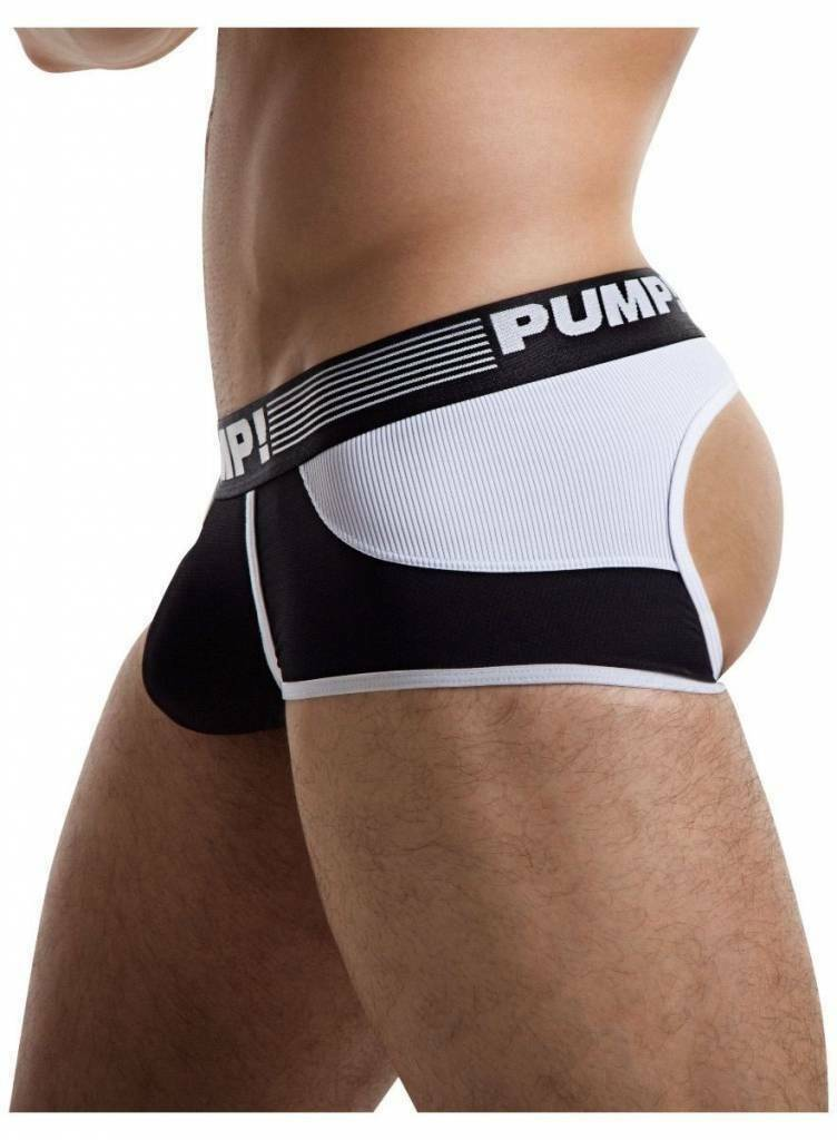 PUMP! S PUMP! Trunk/Jock Acess Bottomless Boxer Backless Jockstrap Black 15032 26