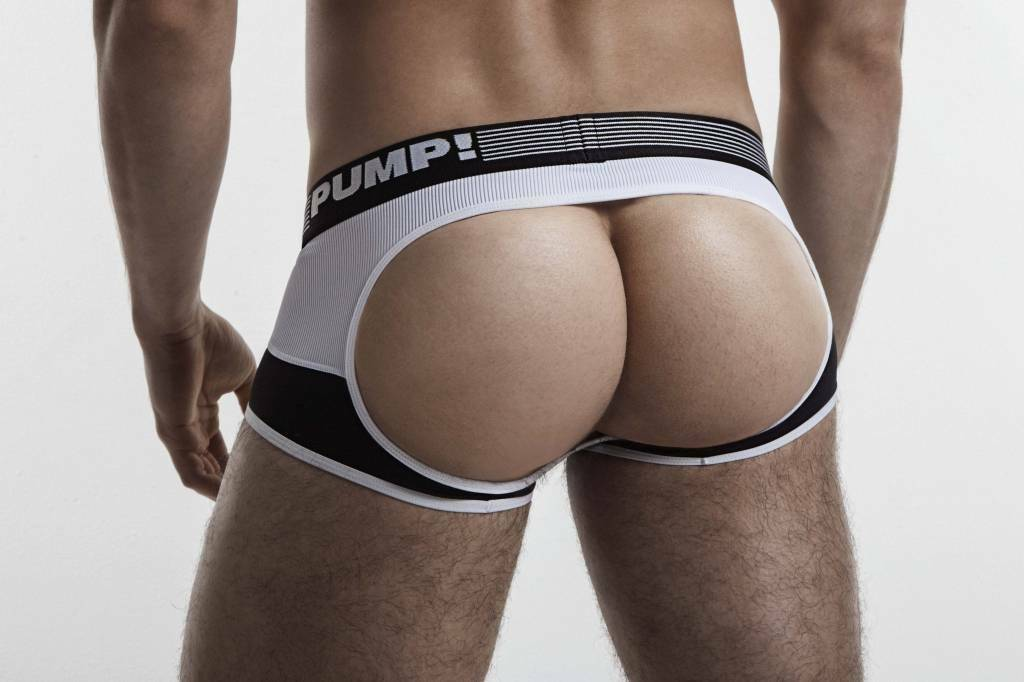 PUMP! PUMP! Trunk/Jock Acess Bottomless Boxer Backless Jockstrap Black 15032 26