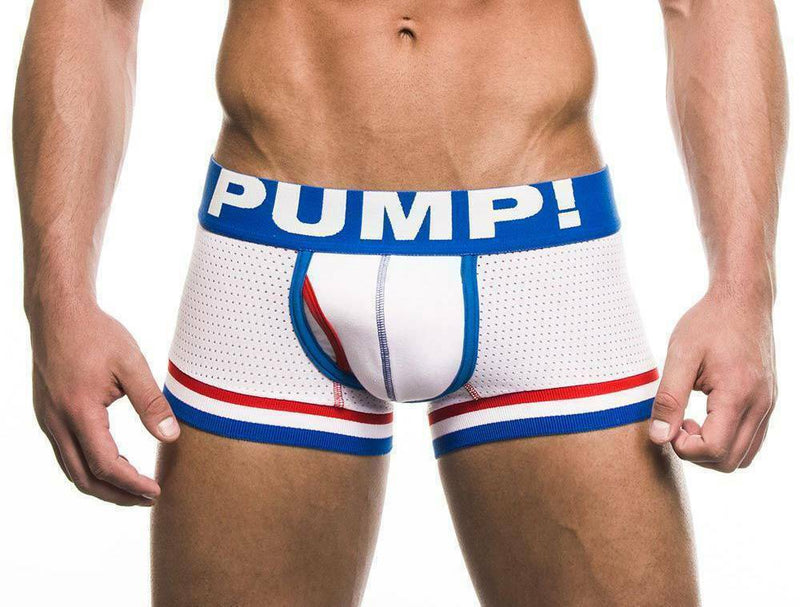 Underwear PUMP! Touchdown Patriot Boxer White Gym SportsWear 11020 19