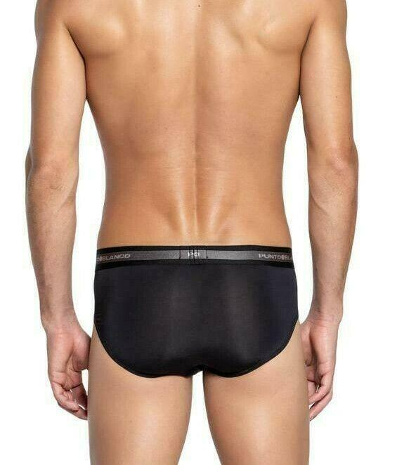 Punto Blanco Punto Blanco Pack Of 2 Brief Supreme 2 Mini Briefs Ligned/Black 3493-10-090 P3
