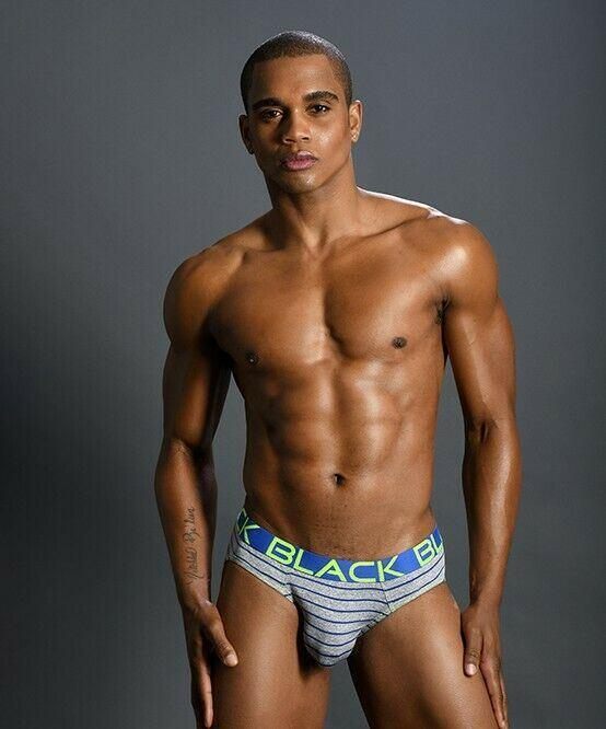 SexyMenUnderwear.com Andrew Christian Brief Black Collection Briefs Heat Striped Slip Gray 91156 43