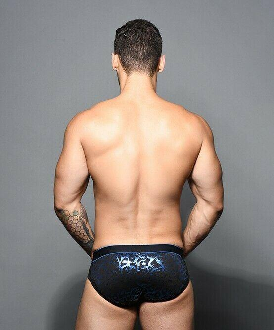 SexyMenUnderwear.com Andrew Christian Brief Massive Sexy Slip Briefs Leopard Sheer 91614 32